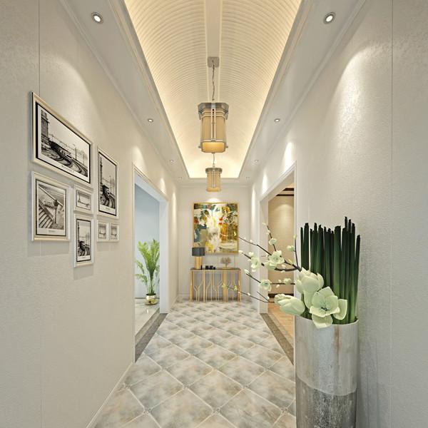 欧美竹木纤维集成墙面效果图展示